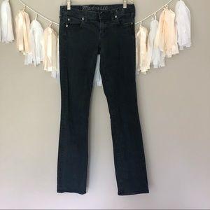Madewell Black High Rise Rail Straight Jeans